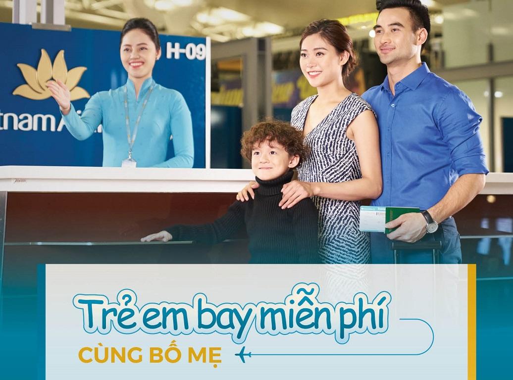 Chương trình mua 2 vé người lớn, tặng 1 vé trẻ em tại Vietnam Airlines