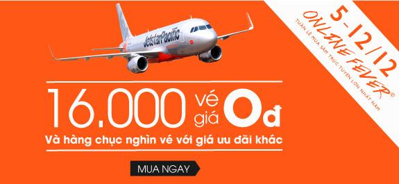 Chương trình khuyến mại vé 0 đồng của Jetstar trong ngày hội mua sắm trực tuyến