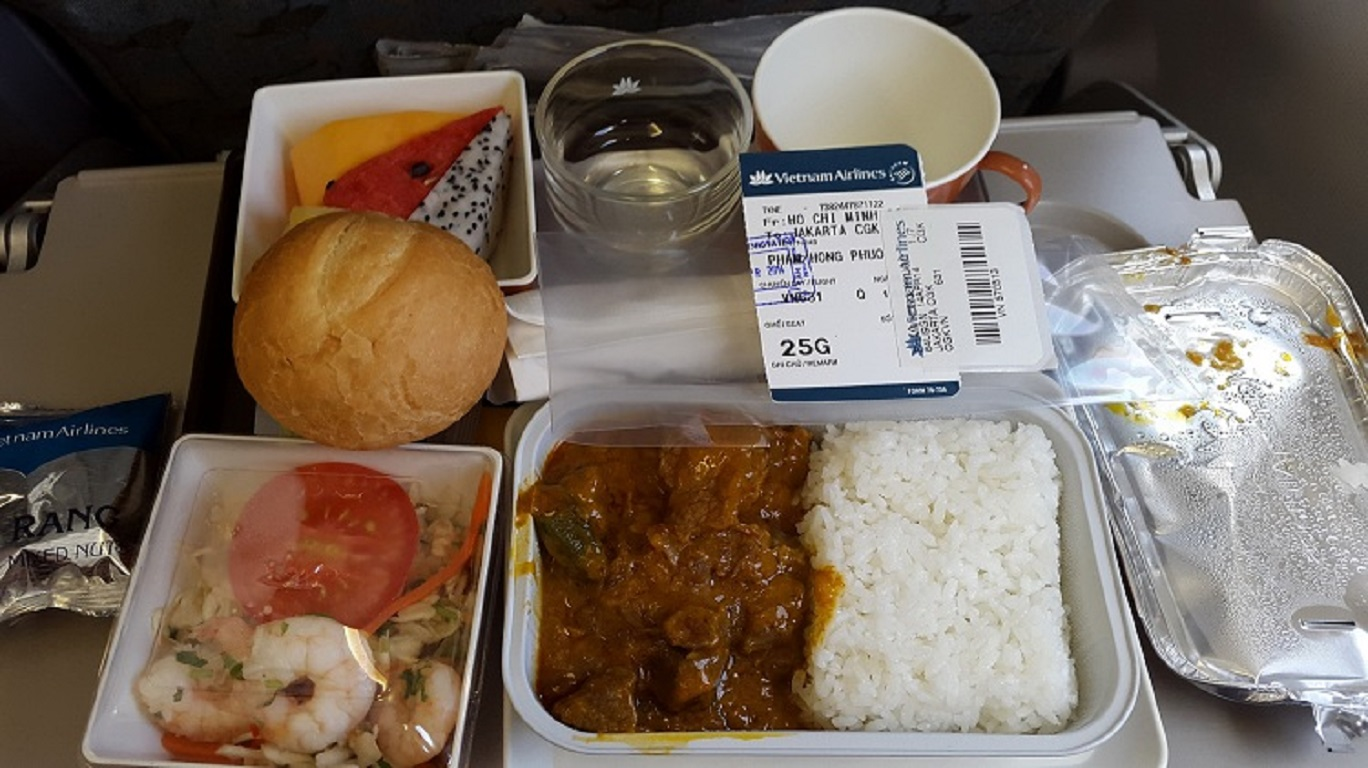 1 bữa ăn trong menu của Vietnam Airlines