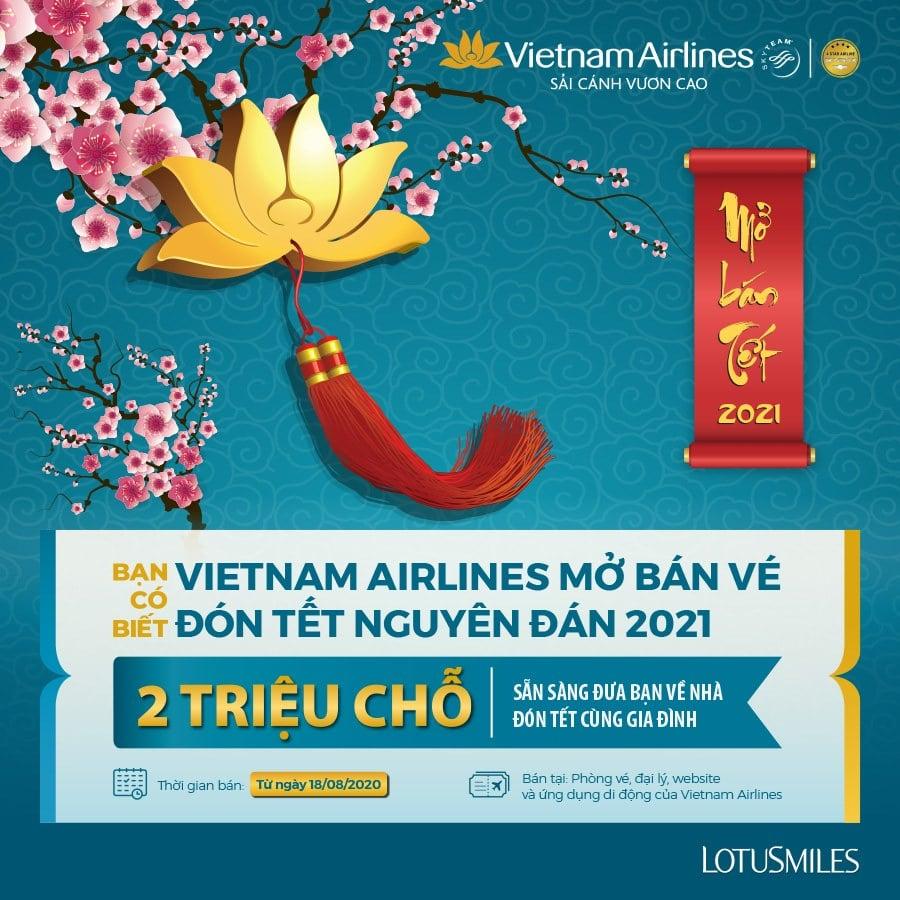 Vé máy bay Tết 2021 Vietnam Airlines