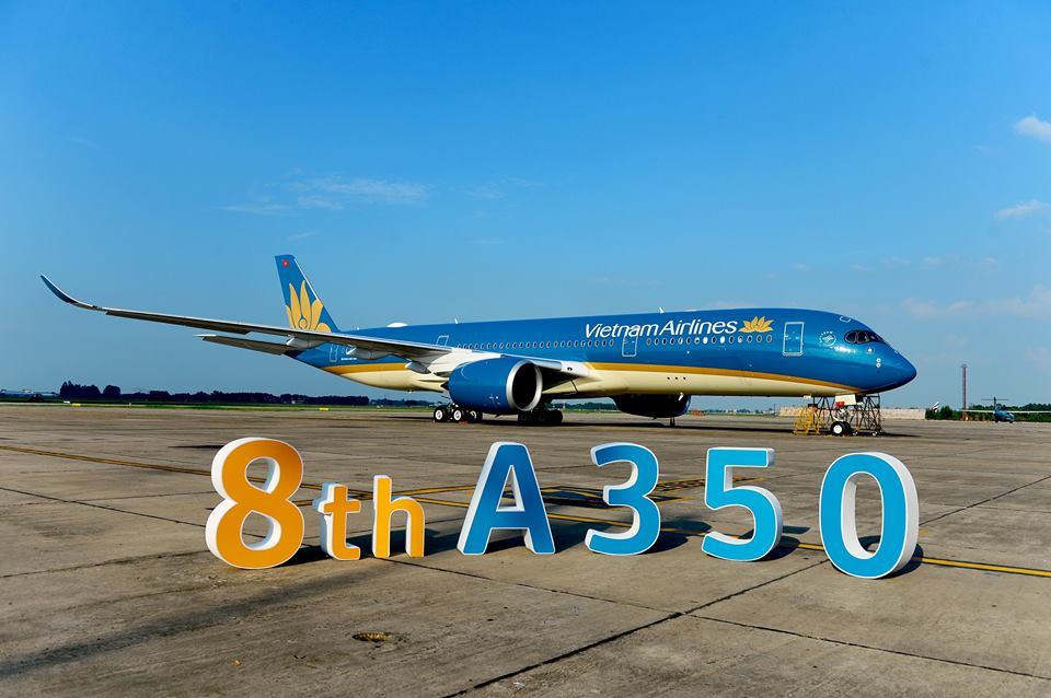 Máy bay Airbus A350 của Vietnam Airlines