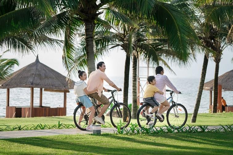 Gia đình lựa chọn nghỉ dưỡng tại VinOasis Phú Quốc