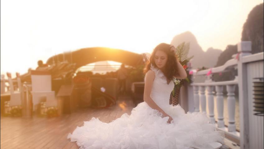 Bộ ảnh cưới lãng mạn trên du thuyền