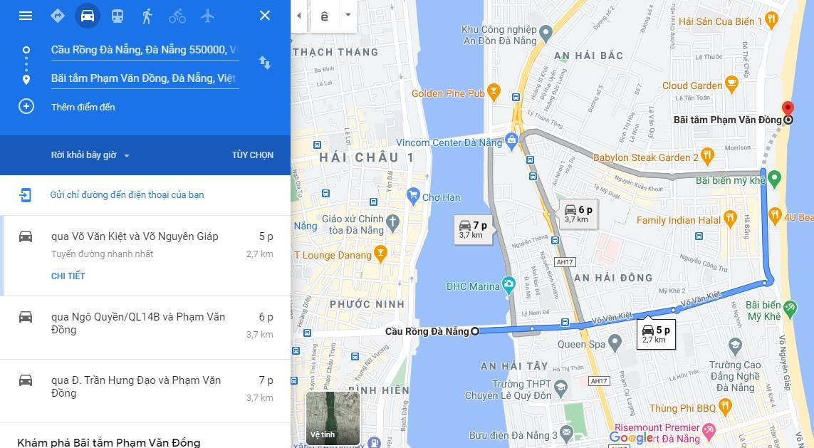 Cách di chuyển đến bãi biển Phạm Văn Đồng