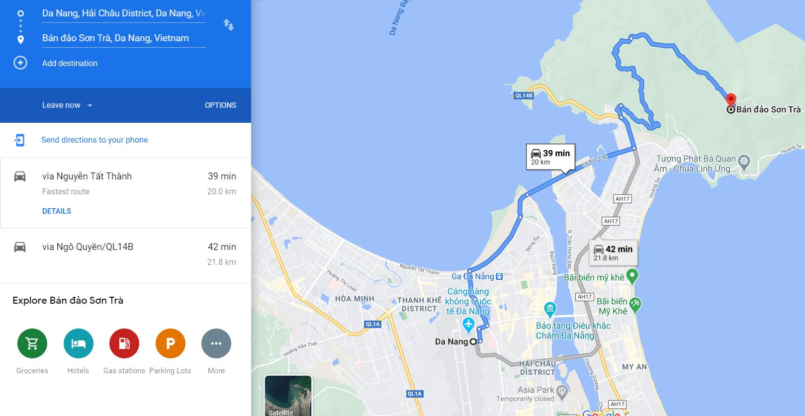 Cách di chuyển đến bán đảo Sơn Trà