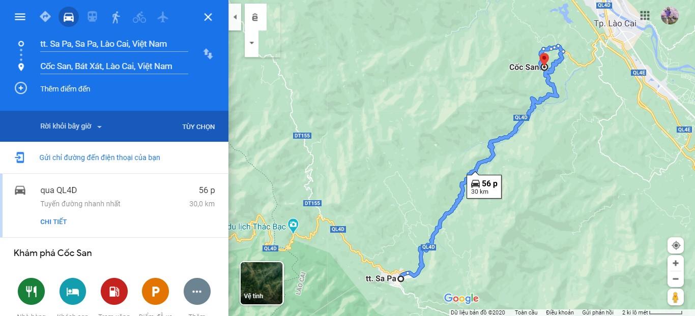 Cách di chuyển đến động Cốc San