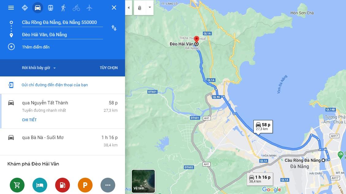 Cách di chuyển đến đèo Hải Vân