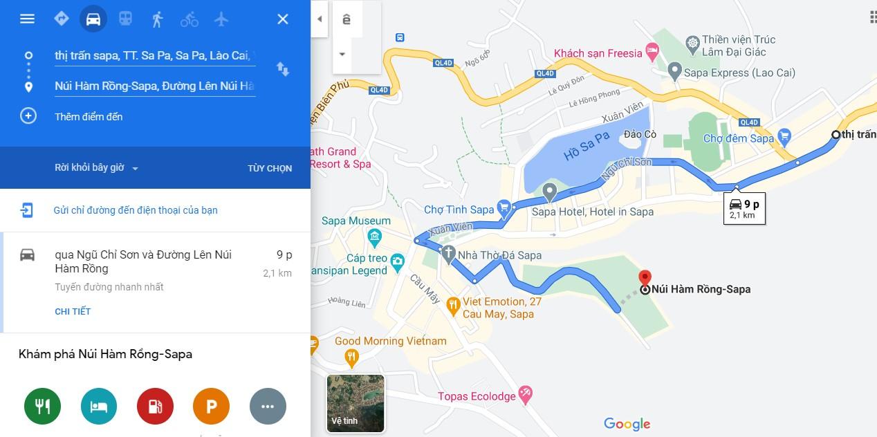 Cách di chuyển đến Núi Hàm Rồng