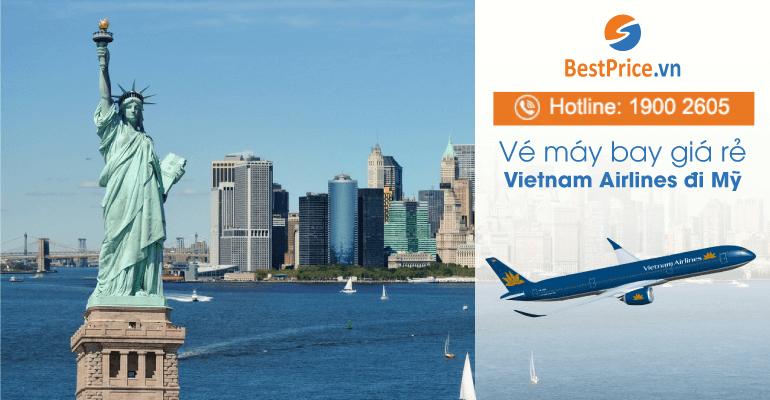 Vé máy bay hãng Vietnam Airlines đi Mỹ