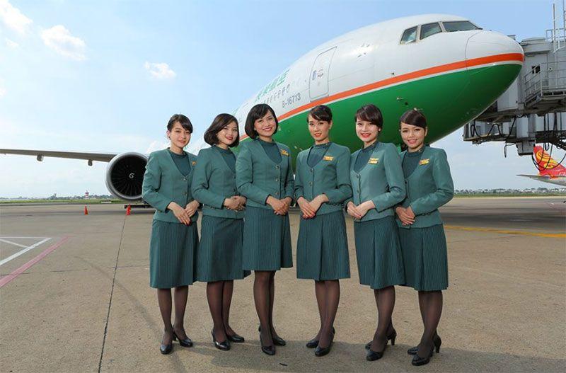 Đội ngũ tiếp viên của hãng Eva Air