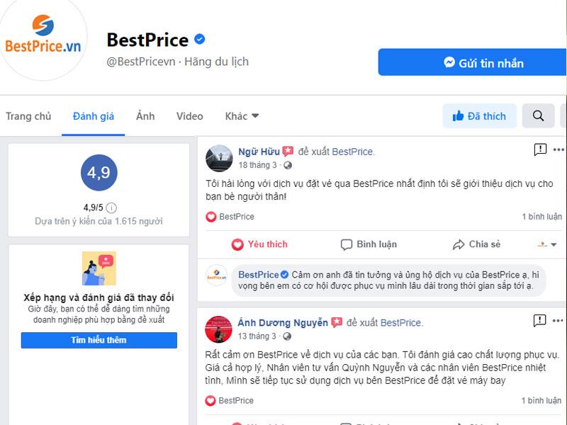 Phản hồi của khách hàng về dịch vụ của BestPrice