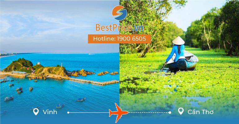 Vé máy bay giá rẻ từ Vinh đi Cần Thơ