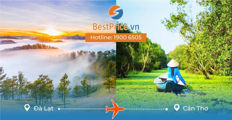 Vé máy bay giá rẻ từ Đà Lạt đi Cần Thơ