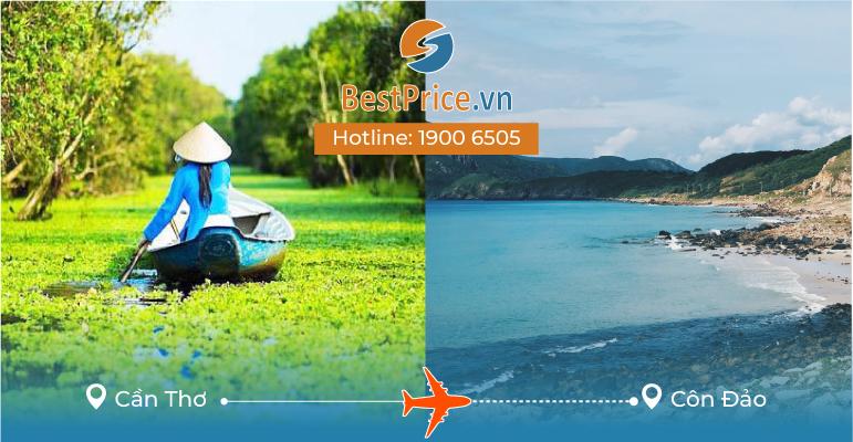 Vé máy bay giá rẻ từ Cần Thơ đi Côn Đảo