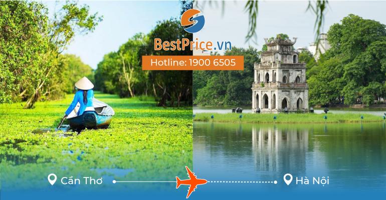 Vé máy bay giá rẻ từ Cần Thơ - Hà Nội