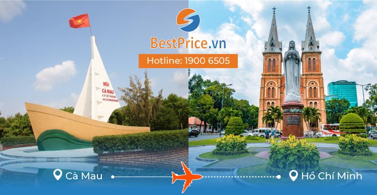 Vé máy bay giá rẻ từ Cà Mau đi Sài Gòn