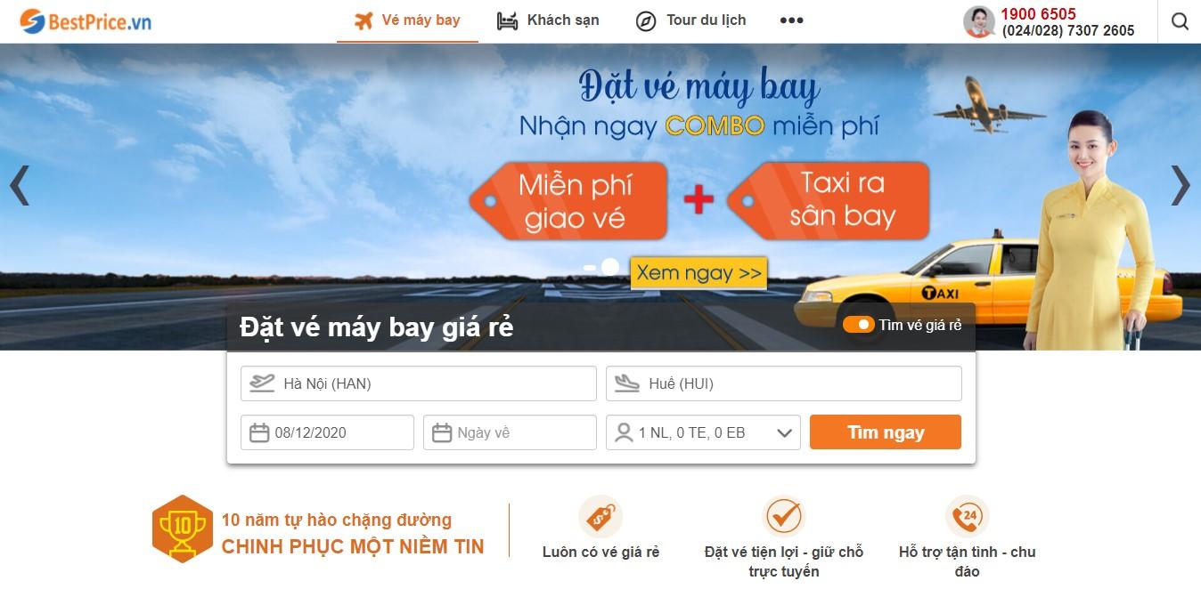 Book lịch bay Hà Nội đi Huế tại bestprice.vn