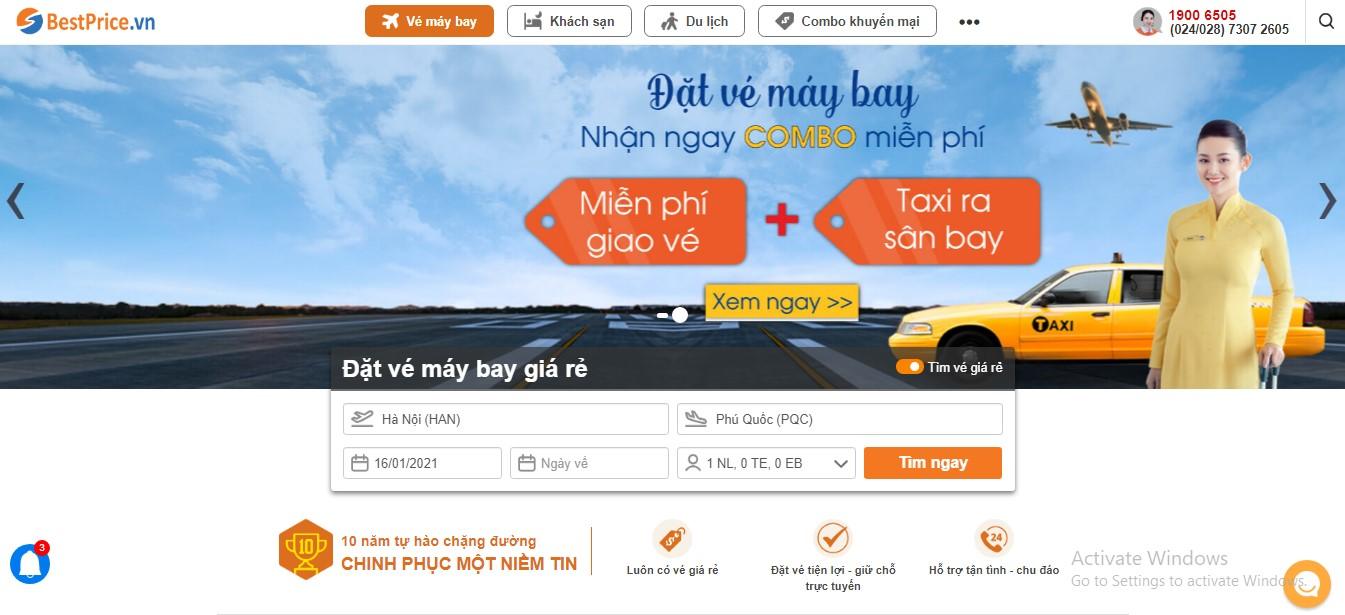 Book lịch bay Hà Nội - Phú Quốc tại BestPrice