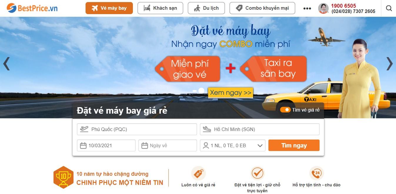 Book lịch bay Phú Quốc - Hồ Chí Minh tại bestprice.vn