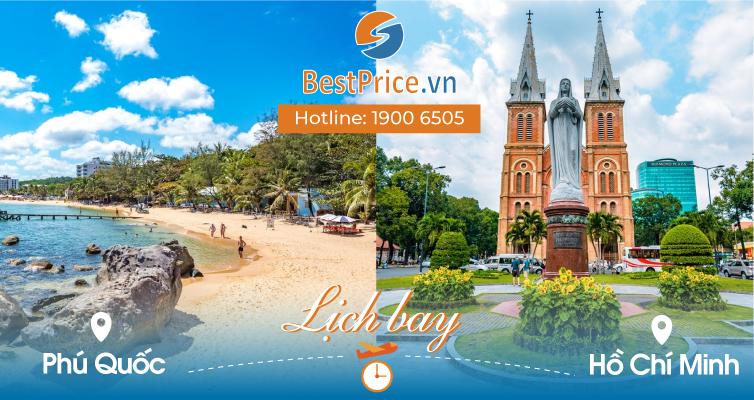 Lịch bay Phú Quốc đi Hồ Chí Minh