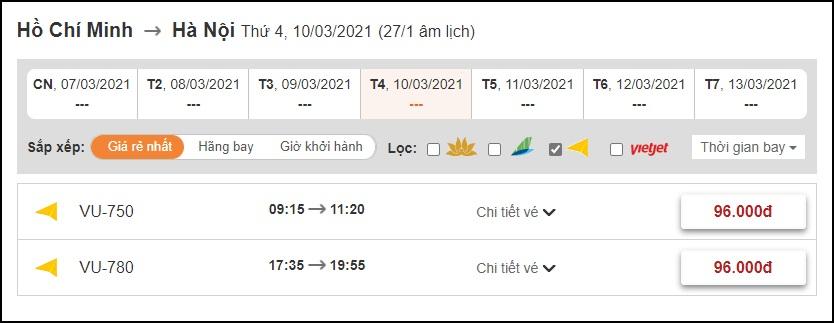 Đặt vé máy bay Vietravel Airlines tại BestPrice