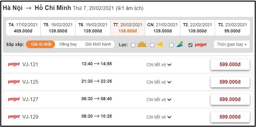 Đặt vé máy bay Vietjet Air trên website BestPrice.vn
