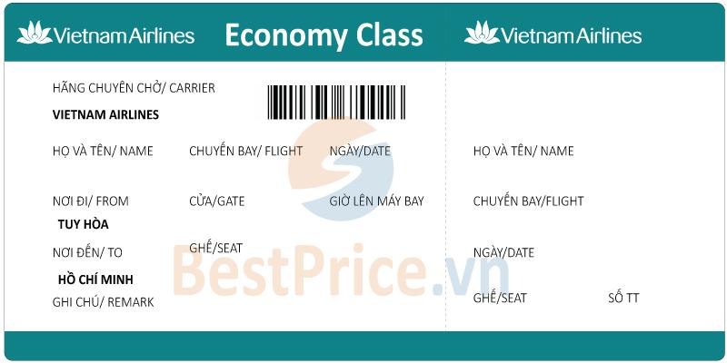 Vé máy bay Tuy Hòa - Sài Gòn Vietnam Airlines