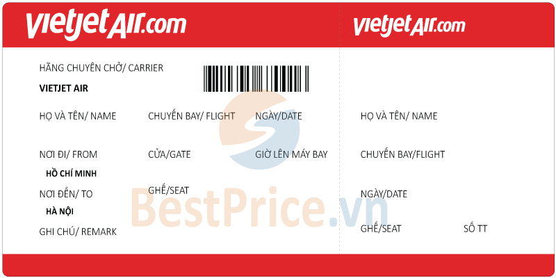 Vé máy bay Hồ Chí Minh đi Hà Nội Vietjet Air