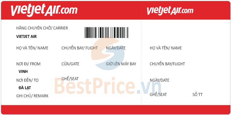 Vé máy bay Vinh - Đà Lạt Vietjet Air