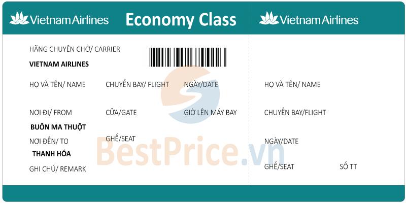 Vé máy bay Buôn Ma Thuột - Thanh Hóa Vietnam Airlines
