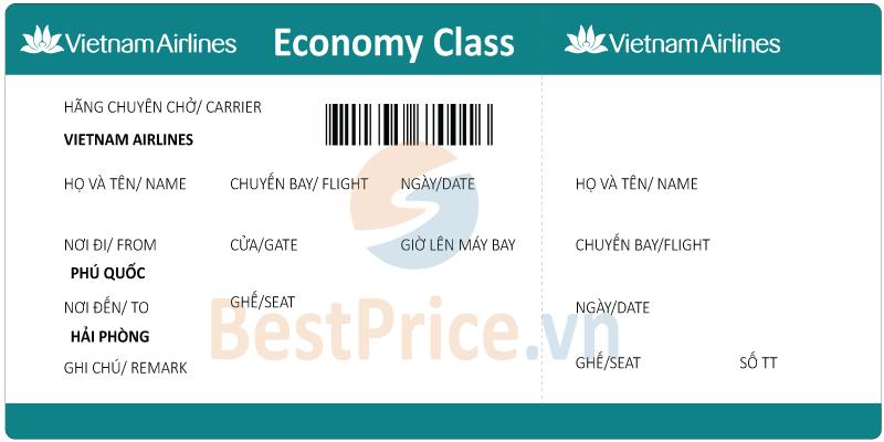 Vé máy bay Phú Quốc đi Hải Phòng Vietnam Airlines