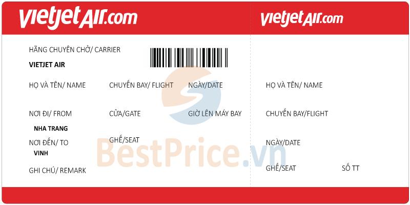 Vé máy bay Nha Trang đi Vinh Vietjet Air