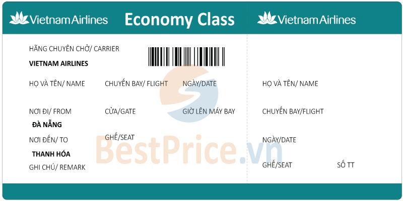 Vé máy bay Đà Nẵng - Thanh Hóa Vietnam Airlines