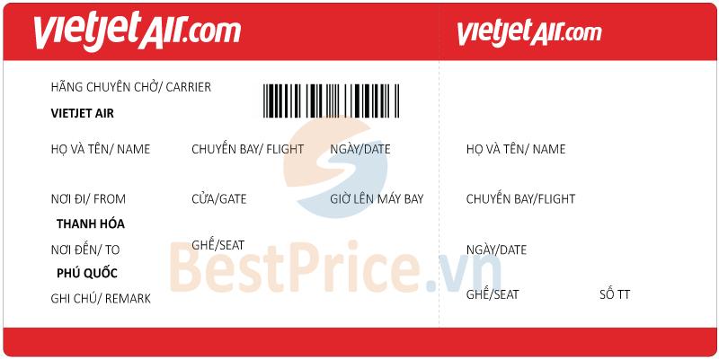 Vé máy bay Thanh Hóa đi Phú Quốc Vietjet Air