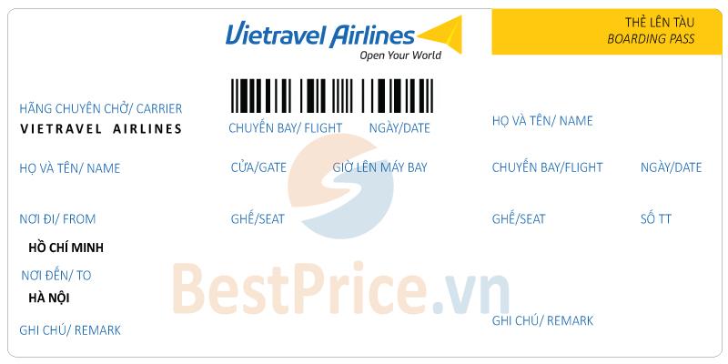 Vé máy bay Sài Gòn - Hà Nội Vietravel Airlines