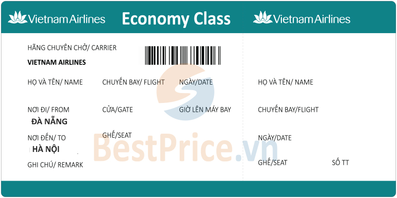 Vé máy bay Đà Nẵng - Hà Nội Vietnam Airlines