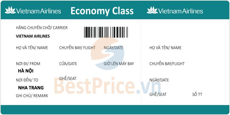 Vé máy bay Hà Nội - Nha Trang Vietnam Airlines
