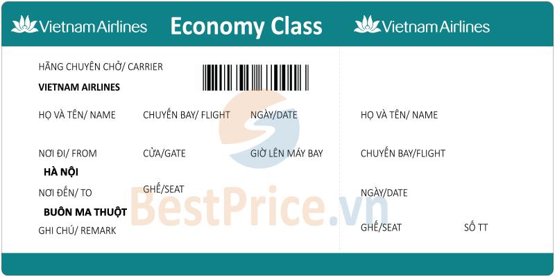 Vé máy bay Hà Nội - Buôn Ma Thuột Vietnam Airlines