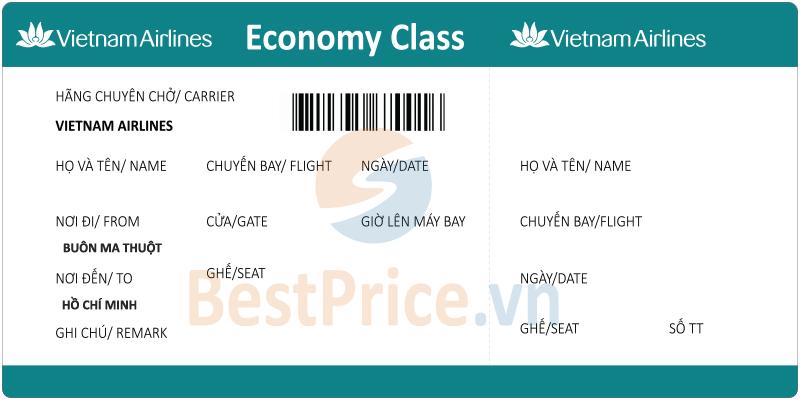 Vé máy bay Buôn Ma Thuột - Hồ Chí Minh Vietnam Airlines