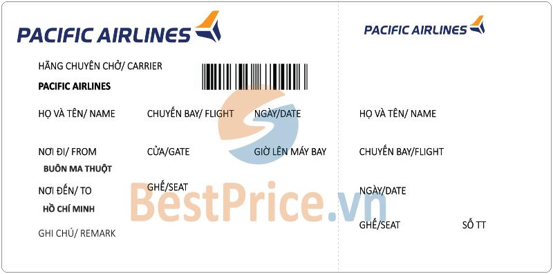 Vé máy bay Buôn Ma Thuột - Hồ Chí Minh Pacific Airlines