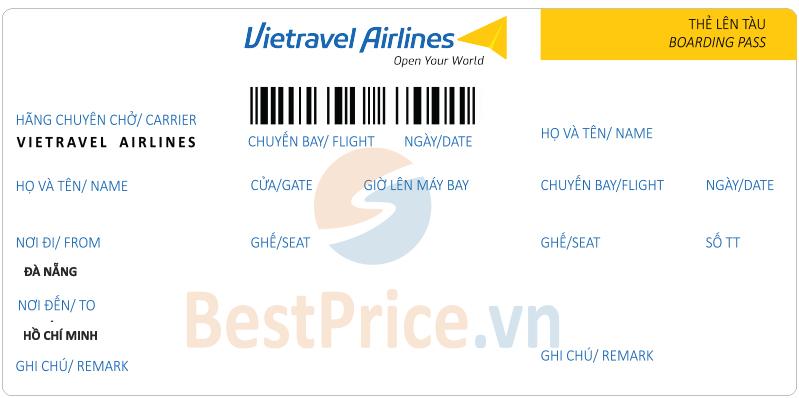 Vé máy bay Đà Nẵng - Sài Gòn Vietravel Airlines