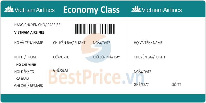 Vé máy bay Hồ Chí Minh - Cà Mau Vietnam Airlines