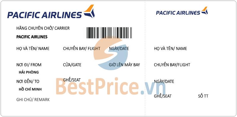 Vé máy bay Hải Phòng - Sài Gòn Pacific Airlines