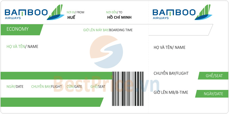 Vé máy bay Huế - Sài Gòn Bamboo Airways