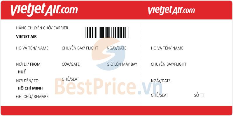 Vé máy bay Huế - Hồ Chí Minh Vietjet Air