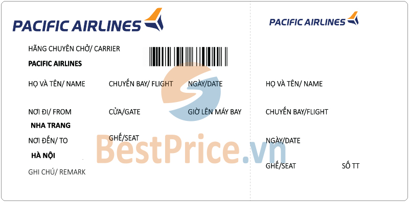 Vé máy bay Nha Trang - Hà Nội Pacific Airlines