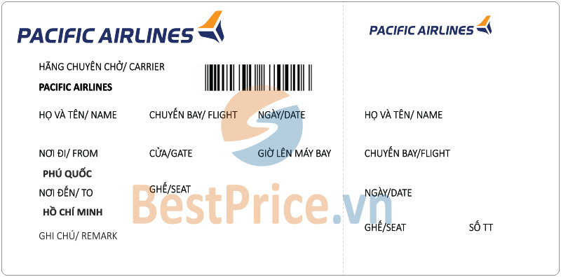Vé máy bay Phú Quốc - Sài Gòn Pacific Airlines