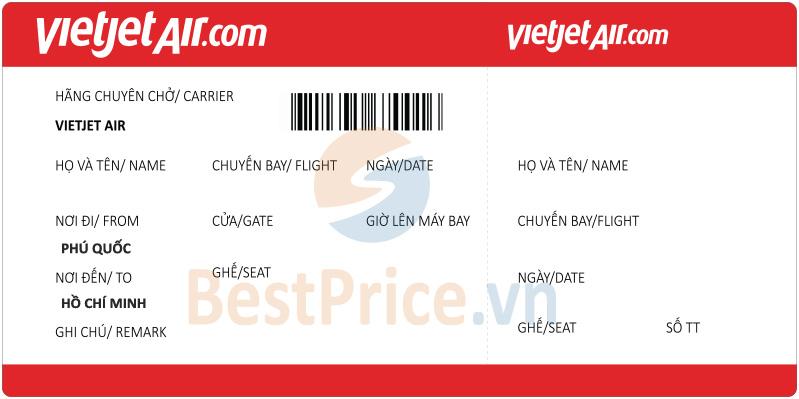Vé máy bay Phú Quốc - Sài Gòn Vietjet Air