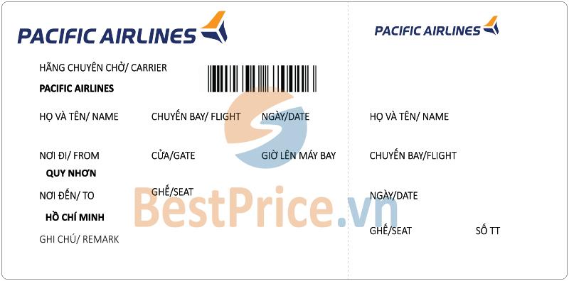 Vé máy bay Quy Nhơn - Sài Gòn Pacific Airlines