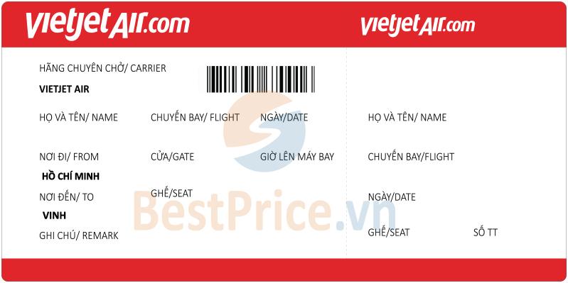 Vé máy bay Sài Gòn - Vinh Vietjet Air